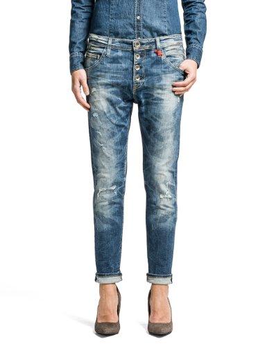 Replay Damen Straight Leg Jeans Pilar, Gr. W27, Blau (BLUE 10) thumbnail