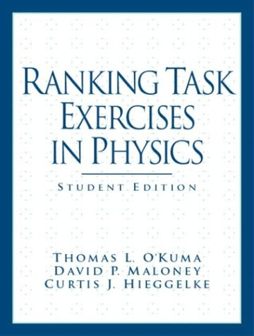 Detail Of: Ranking Task Exercises in Physics: Student Edition
