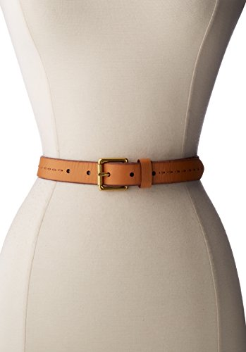 Fossil Women'S Roller Buckle Jean Natural Belt, Natural, Small