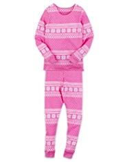 Soft & Cosy Thermal Fair Isle Vest & Leggings Set