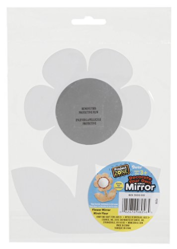 Darice Layered Paper Mirror, Flower, 55/8-Inch