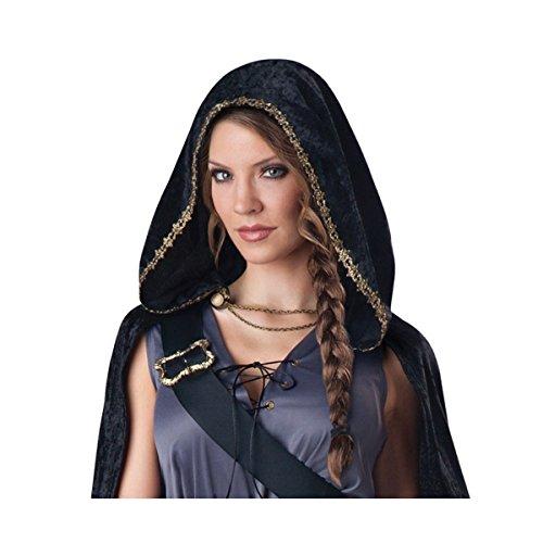 GSG Katniss Everdeen Costume Hooded Huntress Hunger Games Halloween Fancy Dress (Katniss Everdeen Halloween Costumes)