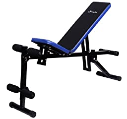 Soozier Multi-Use Dumbbell Exercise Weight Bench - Black / Blue