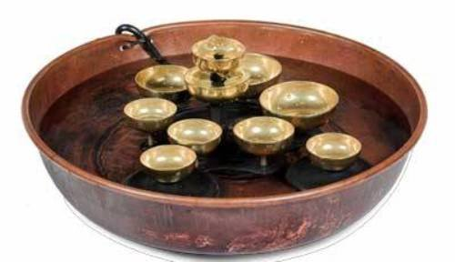 Woodstock Water Bell Tabletop Water Fountain