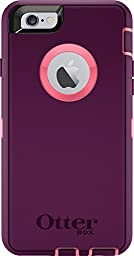 OtterBox DEFENDER Series Case and Belt Clip Holster for Apple iPhone 6s / iPhone 6 - Retail Packaging - Blaze Pink/Damson Purple