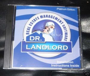 Dr. Landlord Real Estate Management Software Cd ROM Plantinum Edition
