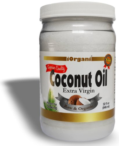 iOrgani Coconut Oil, Raw Organic Virgin, 32 ounce