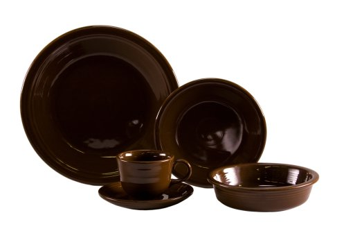 Fiesta 5-Piece Dinnerware Place Setting, Chocolate