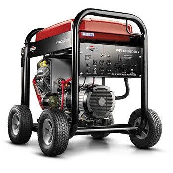 Briggs & Stratton Pro Series 30337 10,000 Watt 16 HP OHV V-Twin Gas Powered Portable Generator With Electric Start & Wheel Kit