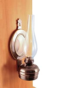 Wall Mounted Brass Oil Lamps : Amazon.com: Antique Brass Wall Oil Lamp 12
