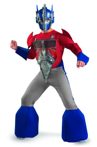 Transformers Prime Optimus Animated Deluxe Costume, Red/Silver/Blue, Small