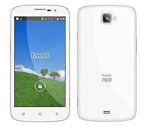 freetel フリーテル SIMフリー スマートフォン Nico ( Android 4.4 / 5.0inch / 標準 SIM Dual SIM / ホワイト ) FT141B_NICO_WH