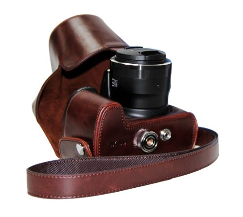 "MegaGear ""Ever Ready"" Protective Leather Camera Case, Bag for Canon PowerShot SX50 HS (Dark Brown)"