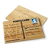 Carve your own card - Wooden Postcard