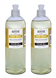 Lab-Clean 104-2 Bayes Eco-Responsible Dish Soap - Vanilla Bean - 16 OZ - 2 Pack