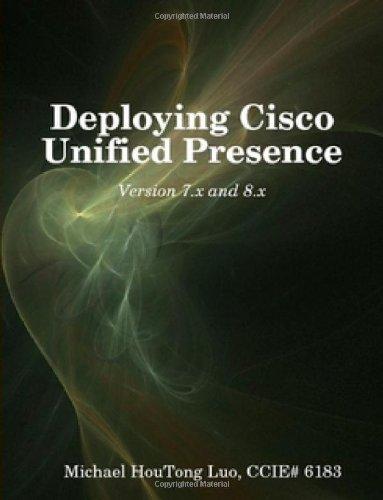 Deploying Cisco Unified Presence