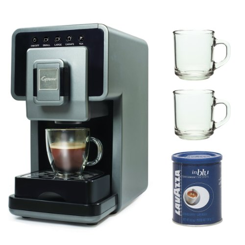 Capresso 3520499Rb Coffee A La Carte Cup-To-Carafe Coffee & Tea Maker Refurbished + 2-Piece 10 Oz. Arc Handy Glass Coffee Mug + Accessory Kit front-514031