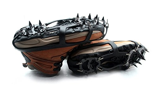 Powerpower 18 Teeth Anti Slip Traction Cleat Crampons for Snow