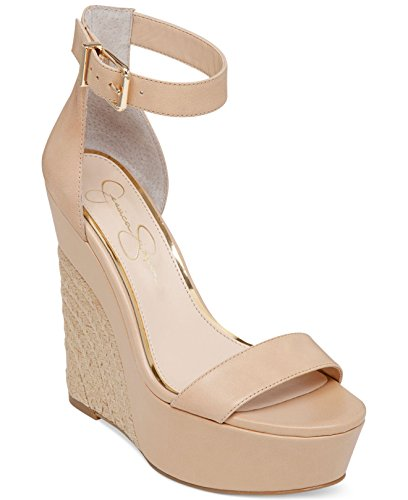 Jessica Simpson Arista Two-Piece Espadrille Platform Wedge Sandals Womens Shoes