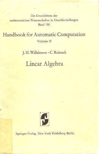 Handbook for Automatic Computation: Linear algebra