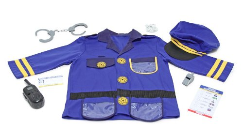 Melissa & Doug Police Officer Role Play Costume Set, Ages 3-6 yrs