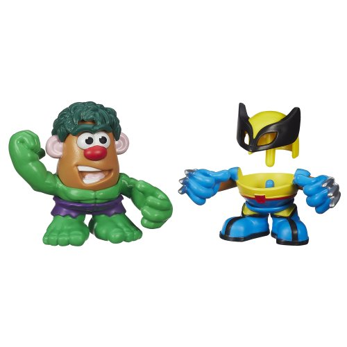 Playskool Mr. Potato Head Marvel Mixable Mashable Heroes as Hulk and Wolverine, 2-Inch (Marvel Potato Head compare prices)