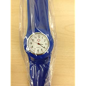 Dark Blue Fancy Slap Watch Teen or Adult Sized
