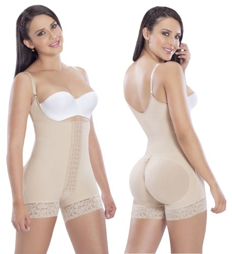 Fajas Colombianas post surgery post partum on Powernet firm control - Beige - Medium