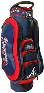 MLB Atlanta Braves Medalist Cart Golf Bag, Navy by Team Golf