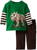 Watch Me Grow! by Sesame Street Baby-boys NB Dinosaur Stomp Pullover and Pant