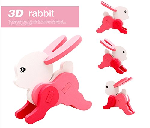 Thinkmax 3-D Wooden Puzzle Affordable Gift For Your Little One!£¨Rabbit) front-269492