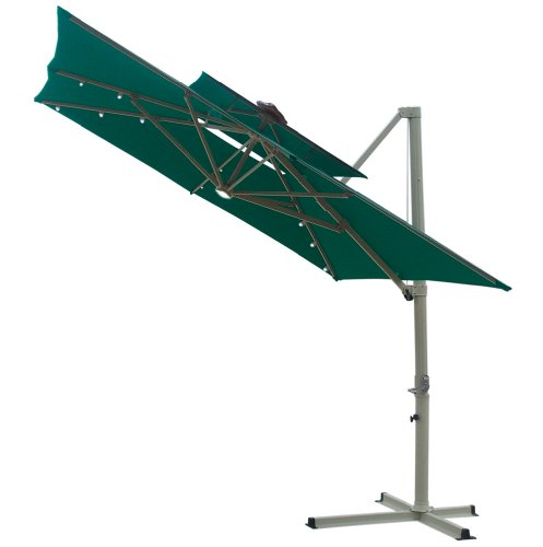 find southern patio 8 5 foot square offset double top solar umbrella