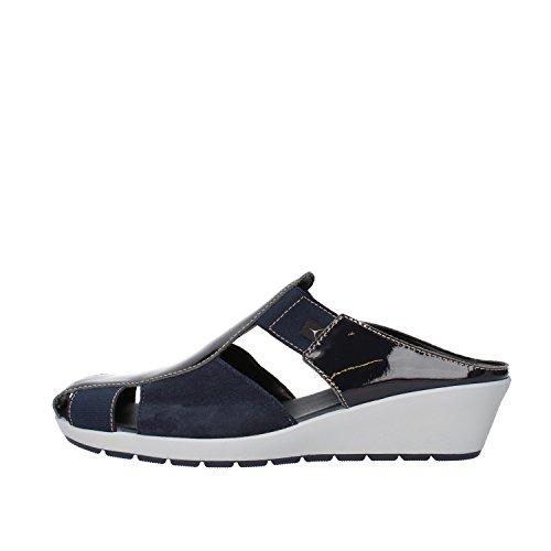 CINZIA SOFT sandali donna 41 EU blu vernice camoscio AG827