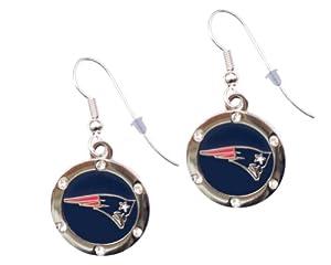 New England Patriots Crystal Dangle Earrings