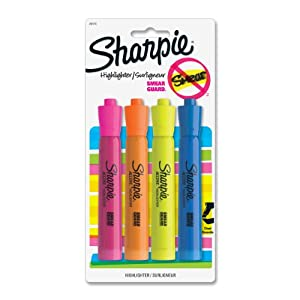 Sharpie Accent Tank-Style Highlighters, 4 Colored Highlighters (25174PP)