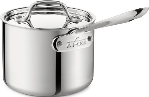 All-Clad 4201.5 Stainless Steel Tri-Ply Bonded Dishwasher Safe Sauce Pan with Lid Cookware, 1.5-Quart, Silver (All Clad Pots compare prices)