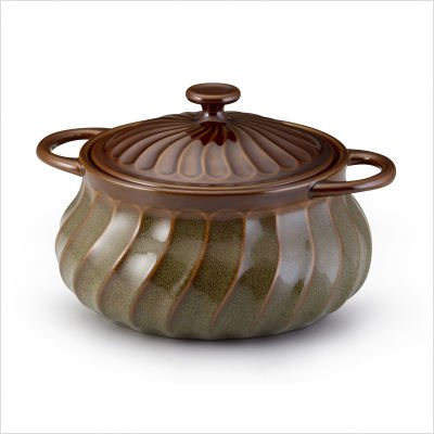 Stoneware 4 Quart Bean Pot