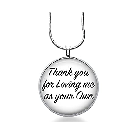 Adoption Fashion Jewelry Necklace- Step Parent - Loving Me As Your Ownpendant