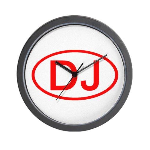 CafePress DJ Oval Red Wall Clock