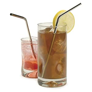 Endurance Stainless Steel Drink Bent Straws (Set of 4)