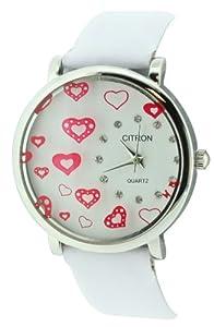 Citron CB725/A - Reloj de mujer de cuarzo, correa de plástico color blanco
