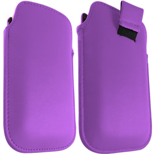 Media Products UK – HTC ChaCha Purple Leather Pull Tab Case Pouch Cover + FREE SHIPPING