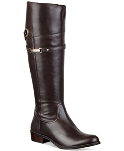 Tommy Hilfiger Delphy Wide Calf Riding Boots Womens Shoes Black 9.5M