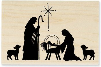 Stampendous Wood Handle Stamp, Manger Scene