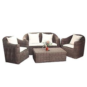 Salotto arredo giardino esterno polyrattan con cuscini mod for Amazon cuscini arredo