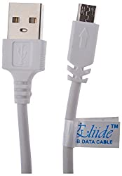 Eliide Micro USB Sync Cable / Data Cable / Charging Cable / Charge Cable for Nokia Lg Micromax sony HTC Samsung Galaxy Ace 2, Ace Duos , Ace Plus, Ace, Galaxy Beam, Galaxy Mini 2, Galaxy Nexus, Galaxy Note, Galaxy Note 2, Galaxy S, S Plus, S2, Galaxy S3, Galaxy S3 LTE, Galaxy S3 Mini, Galaxy S4 I9500 - White 1m