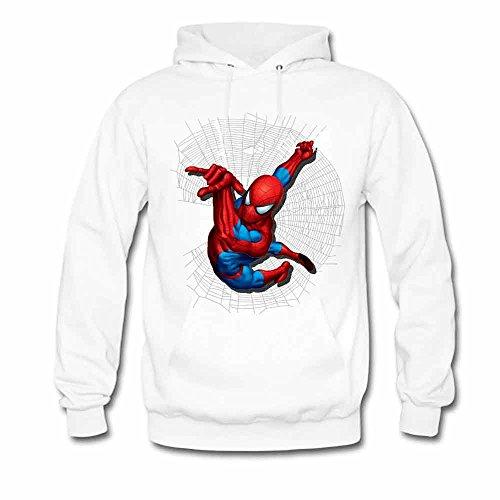 Womens Hoodies Spiderman and Spider web Print Sweatshirts XXL