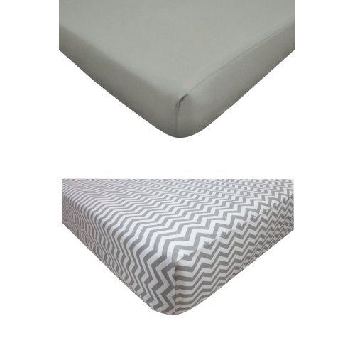 American Baby Company Gray Crib Sheet Bundle - 1