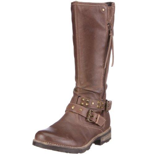 Geox Girls Olivia Stivali Boots, Dark Sand, 39 M EU/6 M US