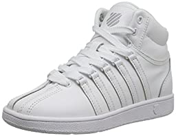K-SWISS Classic VN Mid Sneaker (Infant/Toddler/Little Kid/Big Kid), White/White, 3 M US Infant